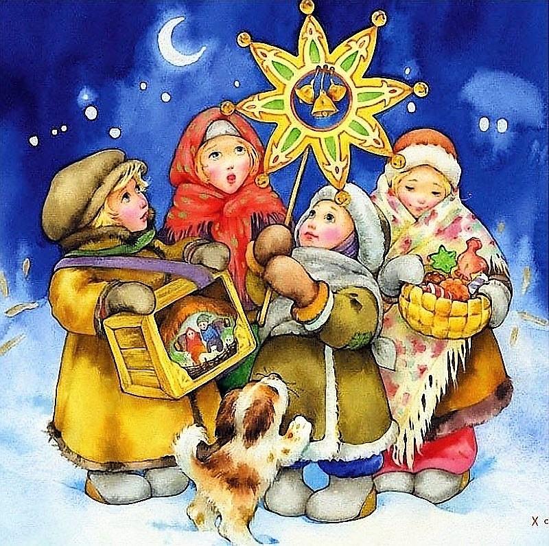 Открытки к рождеству и новому году на русском, природе весна